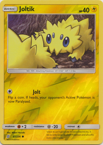 Joltik - 61/236 - Common - Reverse Holo