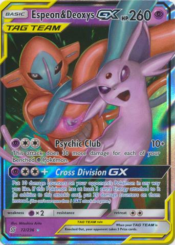 Espeon & Deoxys Tag Team GX - 72/236 - Ultra Rare