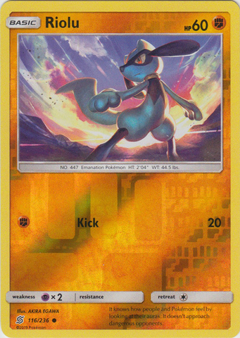 Riolu - 116/236 - Common - Reverse Holo