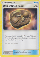Unidentified Fossil - 210/236 - Uncommon