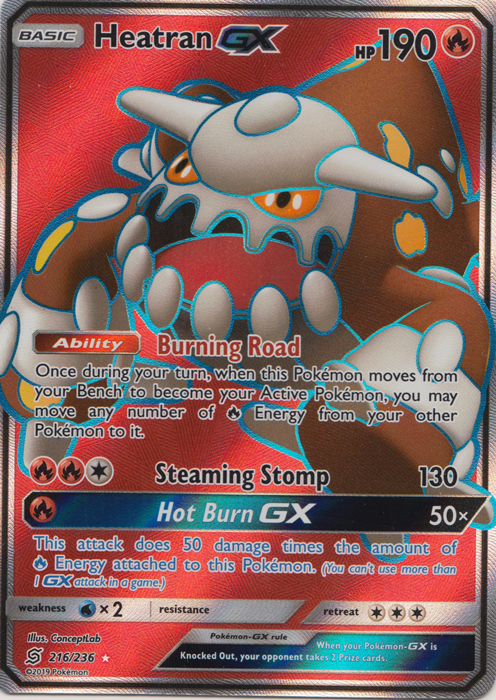 Heatran GX - 216/236 - Full Art Ultra Rare