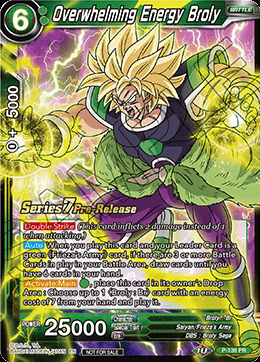 Overwhelming Energy Broly - P-136 - Prerelease PR