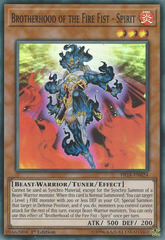 Brotherhood of the Fire Fist - Spirit - FIGA-EN024 - Super Rare - 1st Edition