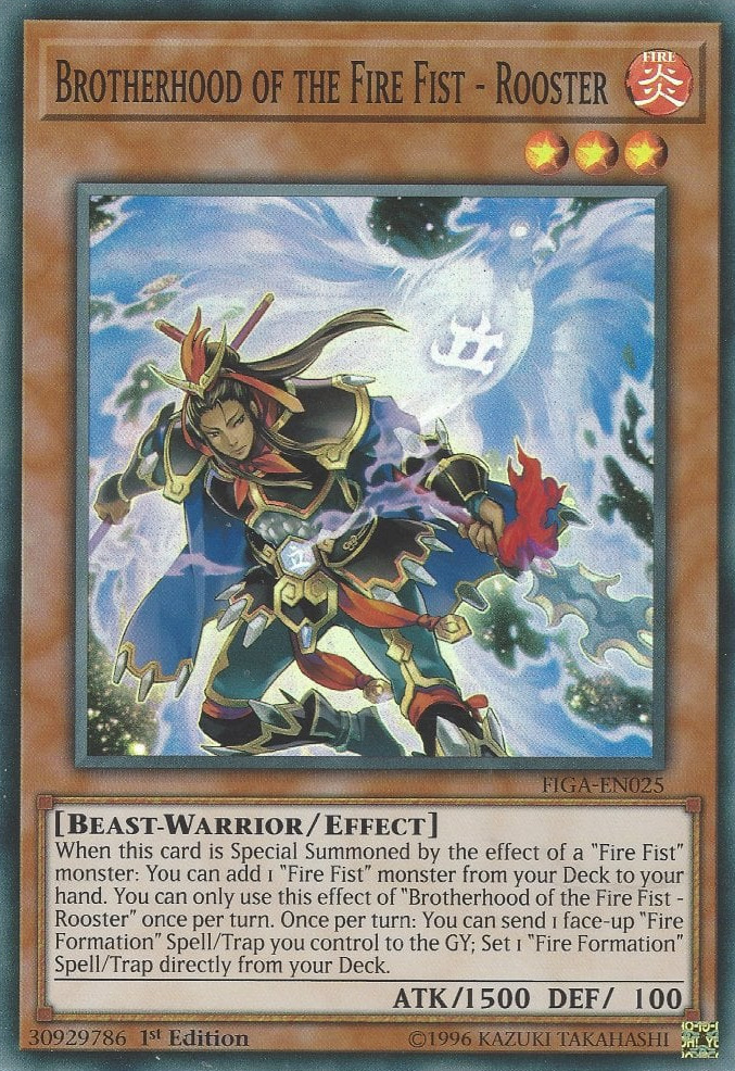 Brotherhood of the Fire Fist - Rooster - FIGA-EN025 - Super Rare - 1st Edition