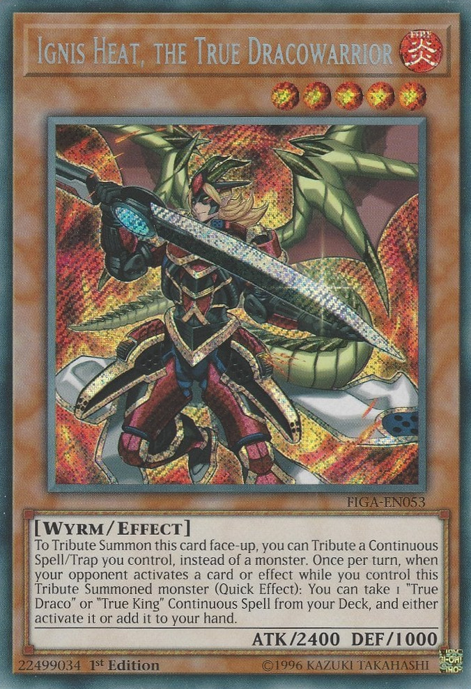 Ignis Heat, the True Dracowarrior - FIGA-EN053 - Secret Rare - 1st Edition
