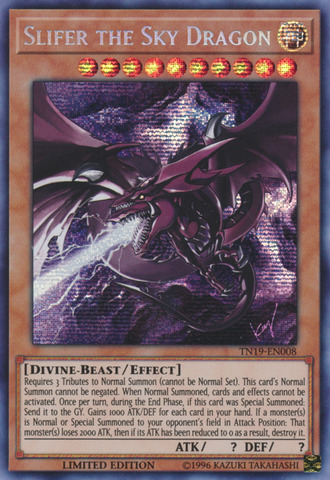 Slifer the Sky Dragon (alternate art) - TN19-EN008 - Prismatic Secret Rare - Limited Edition