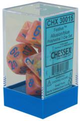 Festive Allusion/blue Polyhedral 7-Die Set - CHX30015