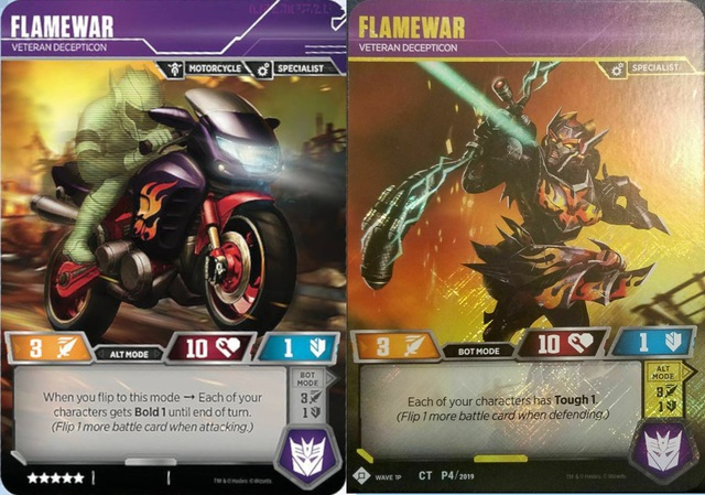 Flamewar // Veteran Decepticon (In-Store Play Gold Promo)