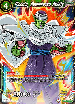 Piccolo, Assimilated Ability - DB1-048 - SR