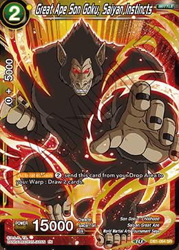 Great Ape Son Goku, Saiyan Instincts - DB1-064 - SR