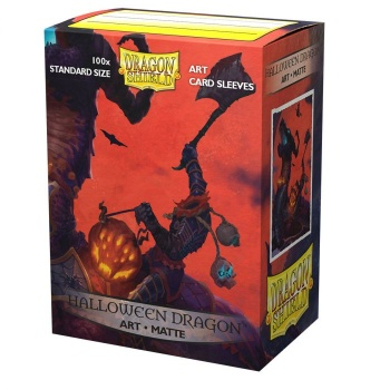 Dragon Shield Sleeves: Matte Art Halloween Dragon (Box of 100) - Limited Edition