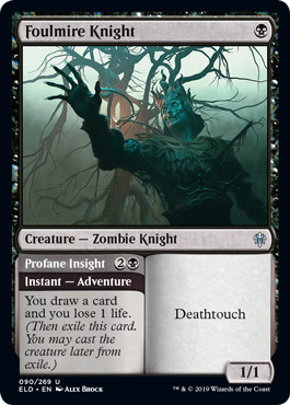 Foulmire Knight // Profane Insight - Foil