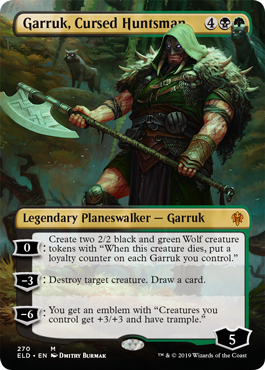 Garruk, Cursed Huntsman (Borderless) - Foil