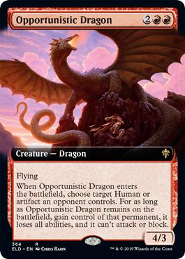 Opportunistic Dragon (Extended Art) - Foil