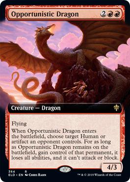 Opportunistic Dragon - Foil - Extended Art
