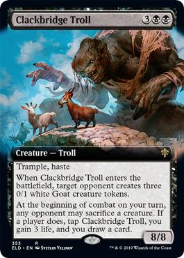 Clackbridge Troll (Extended Art) - Foil