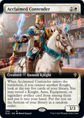 Acclaimed Contender (Extended Art) - Foil (ELD)