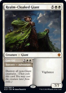 Realm-Cloaked Giant // Cast Off - Foil