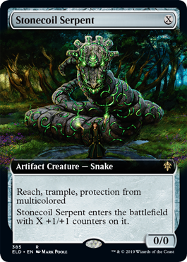 Stonecoil Serpent - Foil - Extended Art