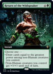 Return of the Wildspeaker - Foil - Extended Art