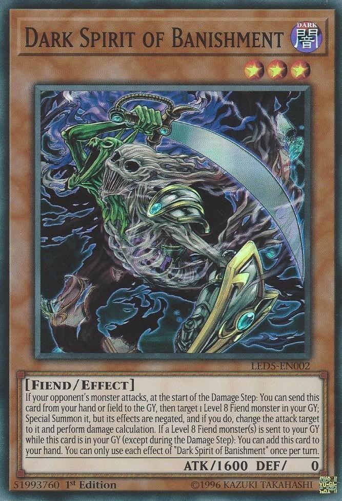 Dark Spirit of Banishment - LED5-EN002 - Super Rare - 1st Edition