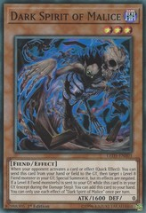 Dark Spirit of Malice - LED5-EN003 - Super Rare - 1st Edition on Channel Fireball