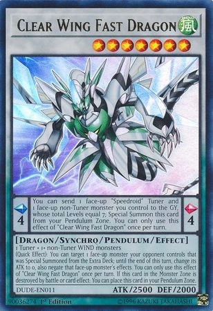 Clear Wing Fast Dragon - DUDE-EN011 - Ultra Rare - 1st Edition
