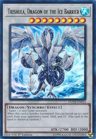Trishula, Dragon of the Ice Barrier - DUDE-EN014 - Ultra Rare - 1st Edition