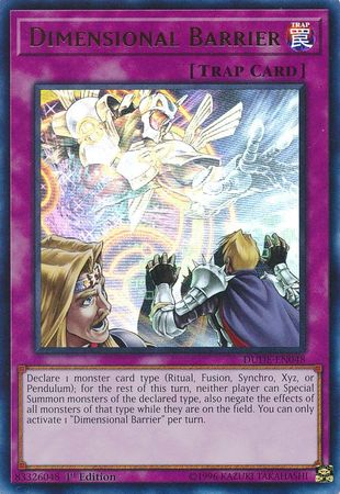 Dimensional Barrier - DUDE-EN048 - Ultra Rare - 1st Edition