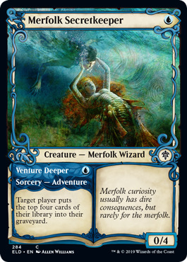 Merfolk Secretkeeper // Venture Deeper - Foil - Showcase