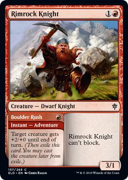 Rimrock Knight // Boulder Rush - Foil