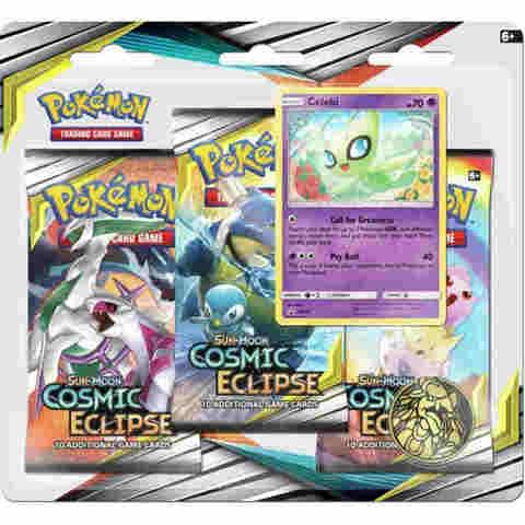 Sun & Moon - Cosmic Eclipse 3 Pack Blister - Celebi