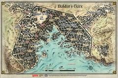 D&D Baldur's Gate: Descent Into Avernus–Baldur's Gate Poster Map