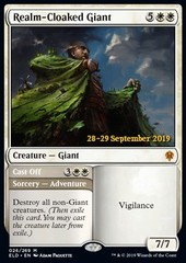 Realm-Cloaked Giant // Cast Off - Foil Prerelease Promo