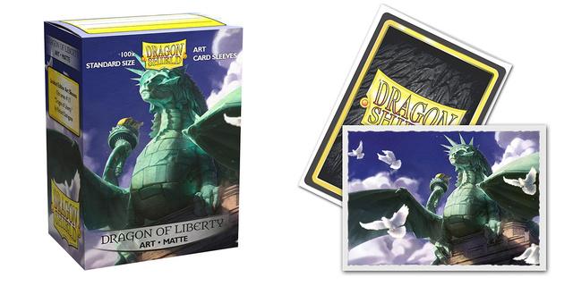 Dragon Shield Sleeves: Art Matte Dragon of Liberty - (Box of 100)