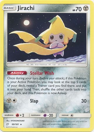 Jirachi - 99/181 - Rare - Non-Holo Theme Deck Exclusive
