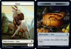 Goat Token // Food Token (015) - Foil