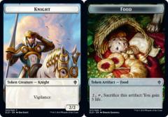 Knight Token // Food Token (017) - Foil