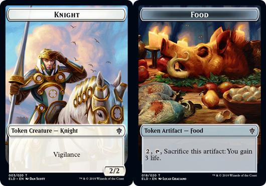 Token - Knight // Food (018) - Foil