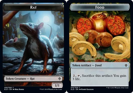 Rat Token // Food Token (016) - Foil