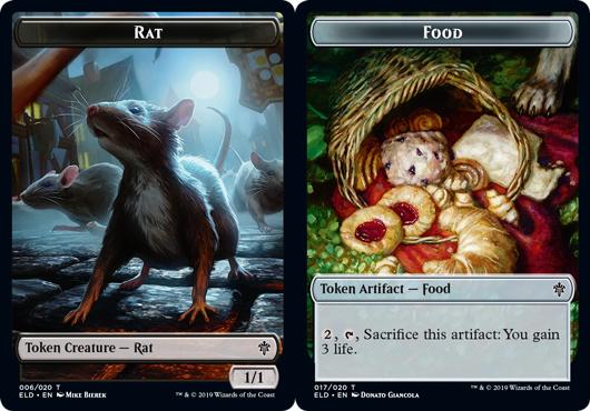 Rat Token // Food Token (017) - Foil
