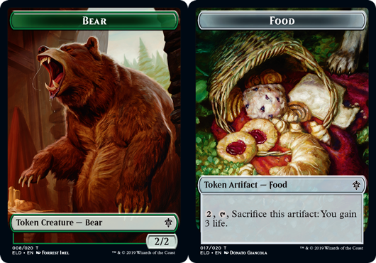 Bear Token // Food Token (017) - Foil