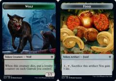 Token - Wolf // Food (016) - Foil