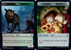 Wolf Token // Food Token (017) - Foil