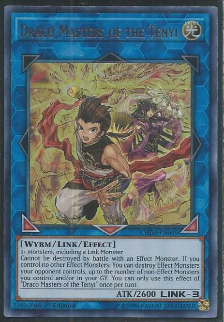 Draco Masters of the Tenyi - CHIM-EN099 - Ultra Rare - 1st Edition
