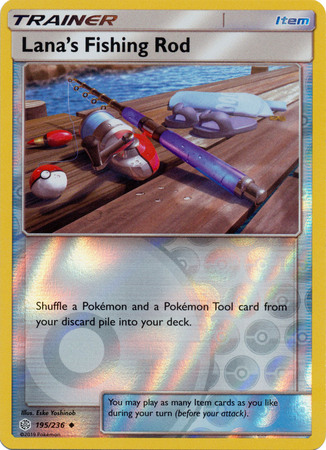 Lanas Fishing Rod - 195/236 - Uncommon - Reverse Holo