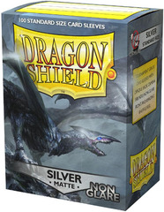 Dragon Shield Matte Non-Glare Sleeves - Silver