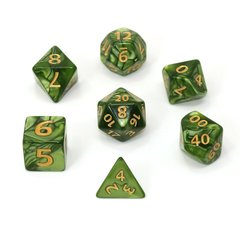 Mega Dice - Green Swirl w/ Gold