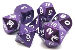 Old School RPG Metal Dice: Halfling Forged - Electric Purple