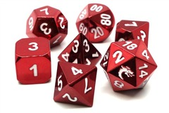 Old School RPG Metal Dice: Halfling Forged - Electric Red